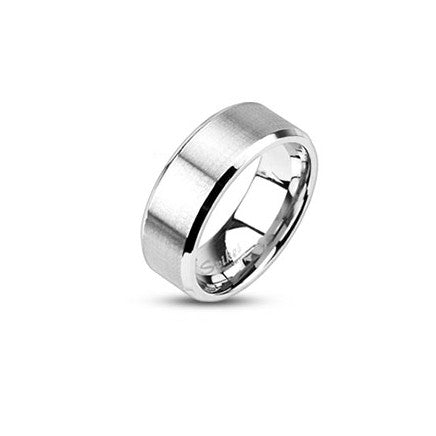 Stainless Steel Brushed Ring - Haggled Jewellery