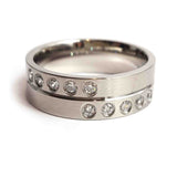 Scattered CZ Steel Ring - Haggled Jewellery - 1