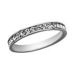 White Gold Crystal Eternity Ring - Haggled Jewellery