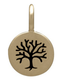 Tiny Natural Bronze Pendant with Etched Tree of Life - Haggled Jewellery - 3