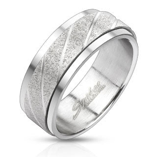 Stainless Steel Spinner Ring - Haggled Jewellery - 1