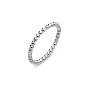 Sterling Silver Ball Band Ring - Haggled Jewellery