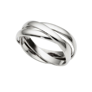 Sterling Silver Trinity Ring - Haggled Jewellery