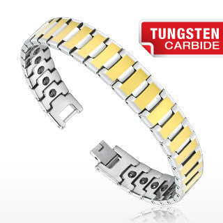 Tungsten Gold Duo Tone Bio-Magnetic Bracelet - Haggled Jewellery