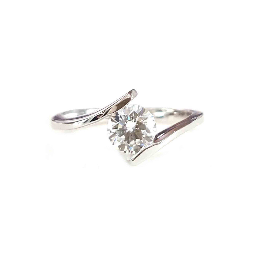1ct Suspended Swiss Diamond Ring