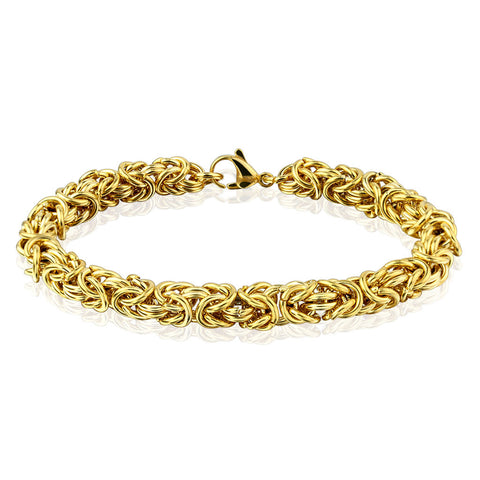 Tangled Chain Gold IP Steel Bracelet - Haggled Jewellery