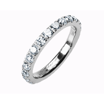 Titanium CZ Eternity Band - Haggled Jewellery