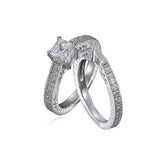 Petite Princess Cut Ring Set - Haggled Jewellery - 1