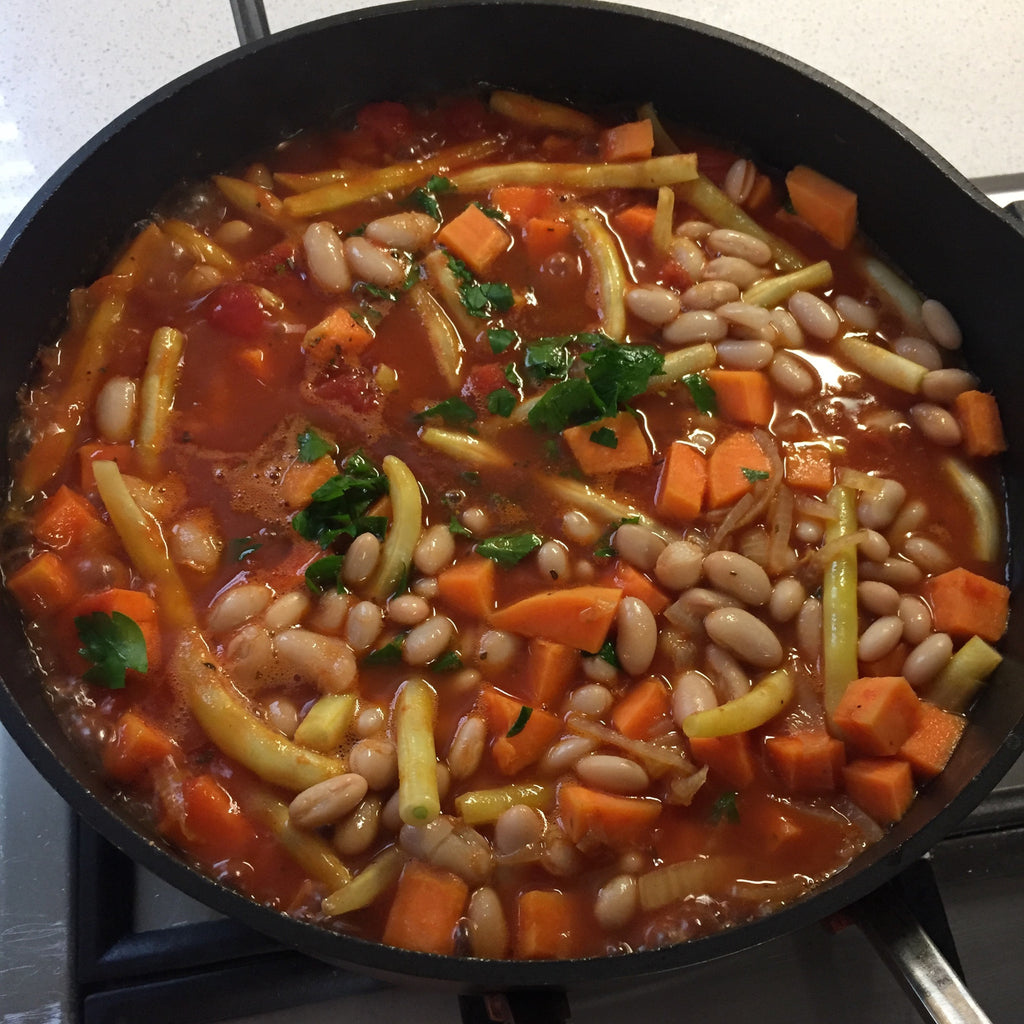 Greek Beans and Sweet Potato