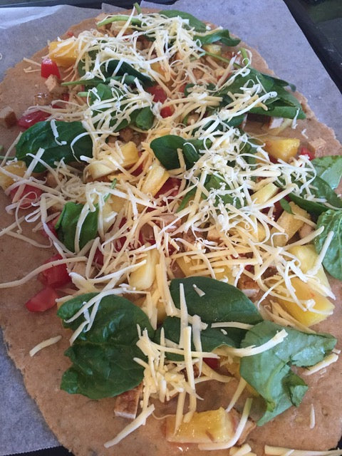 We love making homemade pizza's at our place. It's a fun family activity and everyone can choose their own toppings. We make this really yummy homemade dough which we roll out thin for a crispier pizza base. We love plant based veggie pizzas with dairy free cheese for the top, and seeds rolled into the base for some ex...