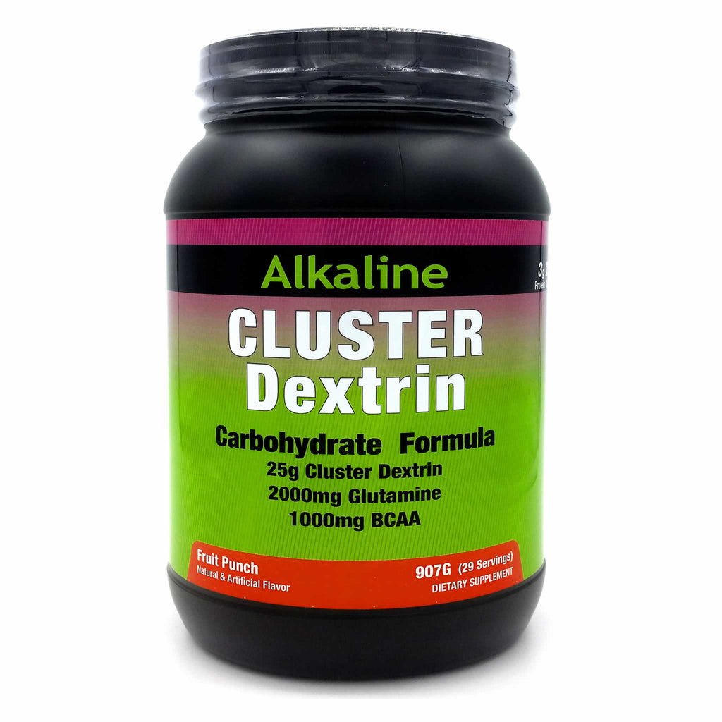 Cluster Dextrin is a new type of patented carbohydrate produced from amylopectin. Cluster Dextrin is a highly-branched carbohydrate with low molecular weight creating almost no effect on osmotic pressure. This means fast gastric emptying leading to faster nutrient absorption and no gut-busting bloating.