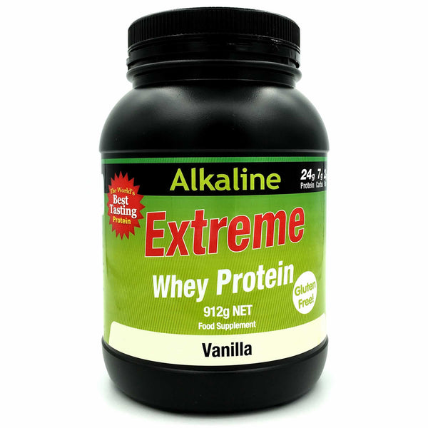 Alkaline Extreme Protein is a special blend of Whey Protein Isolate, Micellar Casein and Alkalising Minerals (Calcium, Magnesium and Potassium) to provide an alkaline mineral buffer so that dairy protein can work in a healthier way. It helps buffer lactic acid in the body so you can workout harder for a longer and achieve the best results.