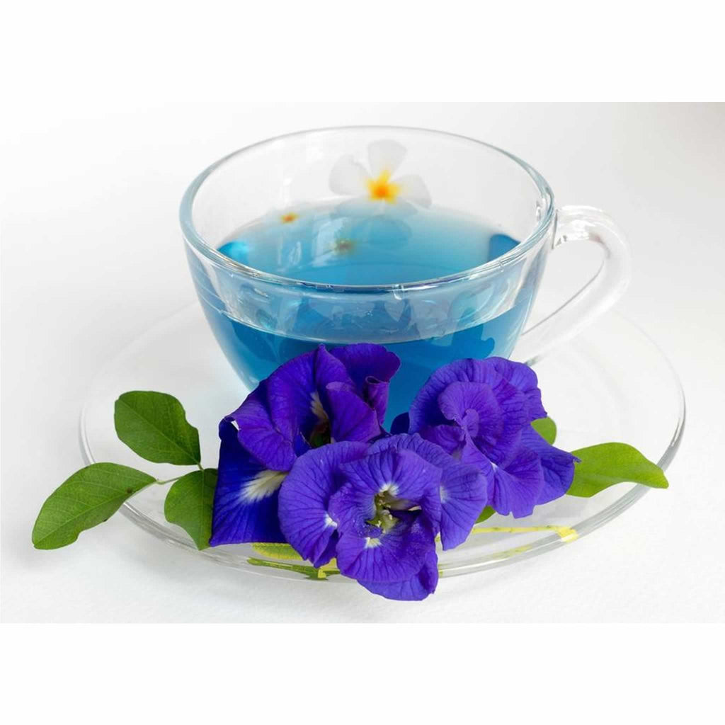 A Soothing, Alkalising and Cleansing tea that is Caffeine Free! Blue pea tea has a very high level of antioxidants such as anthocyanins, anthocyanidins and catechins. Anthocyanin's, are the purple, red or blue pigments that give blue tea its' vibrant Blue colour. Antioxidants are protective to the body, as they counter...