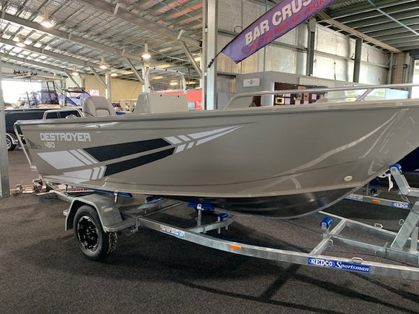 FLAGSHIP 450 SIDE CONSOLE DESTROYER - YAMAHA F60LB- AIRCRAFT GREY  - $24,990 - SAVE $2,000