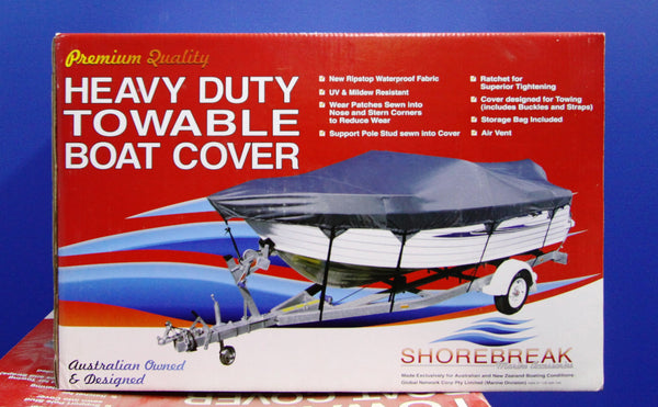 ShoreBreak Boat Cover - 4.2m - 4.8m Half Cabin