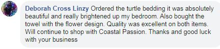 Review for Coastal Passion Bedding Set