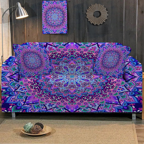 Coastal Sofa Slipcover-Cosmic Bohemian Couch Cover-Coastal Passion