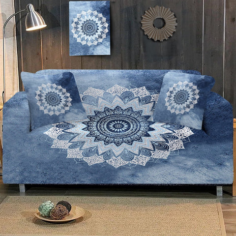 Coastal Sofa Slipcover-Bali Blue Surf Couch Cover-Coastal Passion