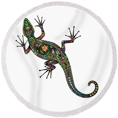 The Gecko Geek Round Beach Towel-Round Beach Towel-Australian Coastal Passion