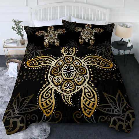 The Golden Sea Turtle New Quilt Set-🇦🇺 Australian Coastal Passion