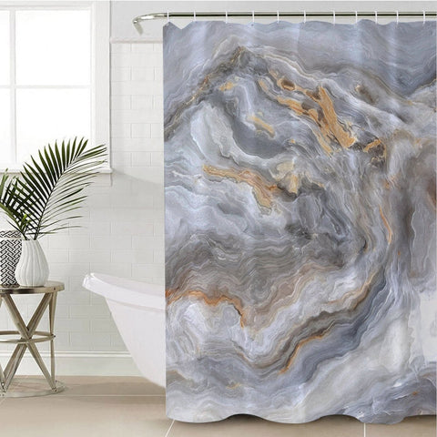 Coastal Shower Curtain-Whitehaven Shower Curtain-Coastal Passion