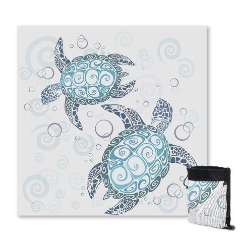 Coastal Sand Free Beach Towel-The Original Sea Turtle Twist Sand Free Towel-Coastal Passion