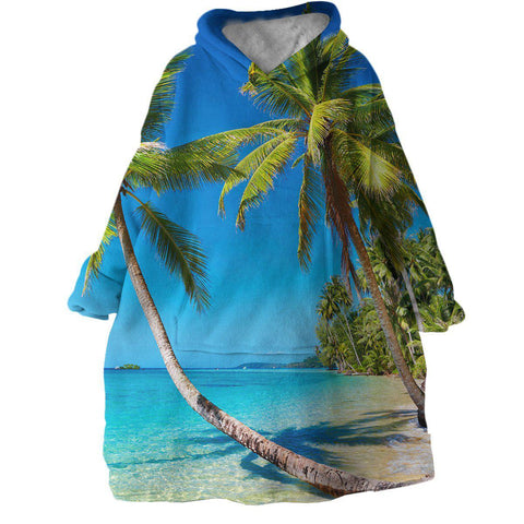Tropical Escape Wearable Blanket Hoodie-Coastal Passion