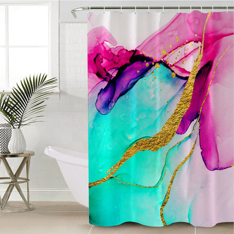 Coastal Shower Curtain-Anse Source D'Argent Shower Curtain-Coastal Passion