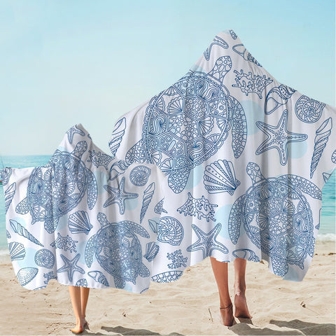 Sea Turtles Way Hooded Towel