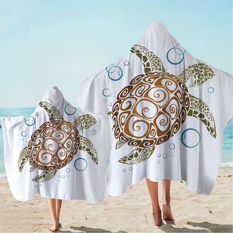 The Great Sea Turtle Hooded Towel