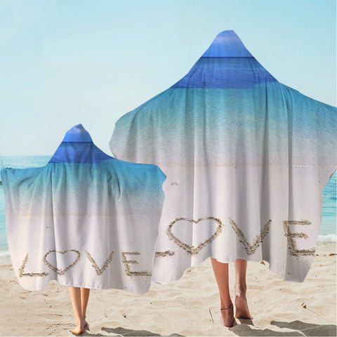 Sandy Love Hooded Towel