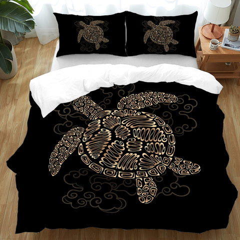 Shelly the Sea Turtle Doona Cover Set-Australian Coastal Passion