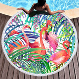Flamingo Passion Round Beach Towel-Round Beach Towel-Australian Coastal Passion