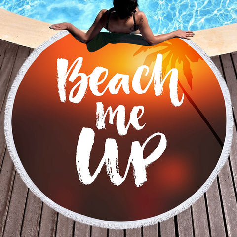 Beach Me Up Round Beach Towel-Round Beach Towel-Australian Coastal Passion