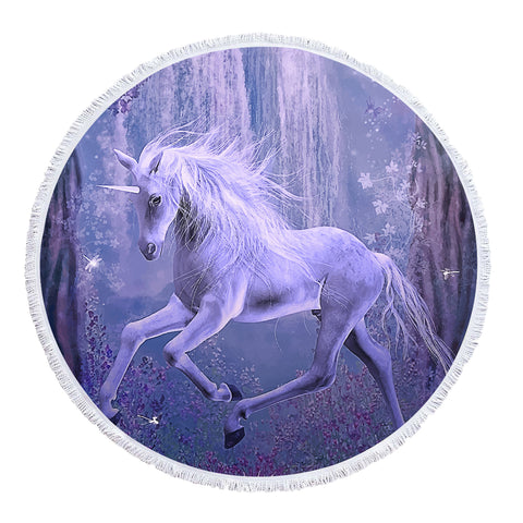 Fantasy Unicorn - Baby Size 100 cm-Round Beach Towel-Australian Coastal Passion