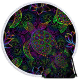 Sea Turtle Mysteries Round Beach Towel-Australian Coastal Passion