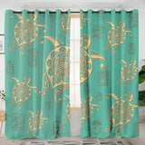 Turtles in Turquoise Curtains-Australian Coastal Passion