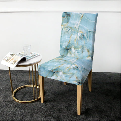 Coastal Dining Chair Cover-Navagio Beach Chair Cover-Coastal Passion