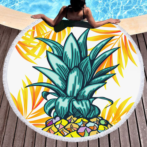 Coastal Round Beach Towel-Wear a Crown Round Beach Towel-Coastal Passion