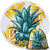 Coastal Round Beach Towel-Wear a Crown Towel + Backpack-Coastal Passion