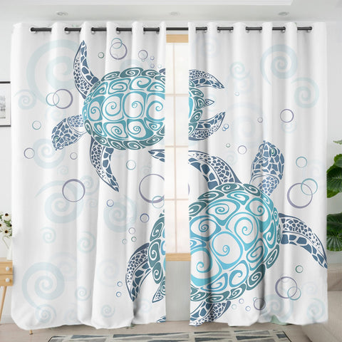 The Sea Turtle Twist Curtains-Australian Coastal Passion