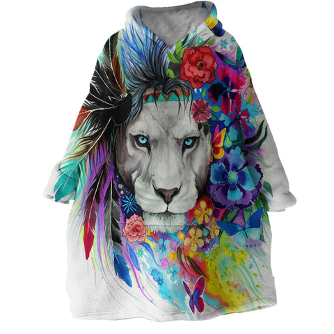 The Original Lion Vibes Wearable Blanket Hoodie-Coastal Passion