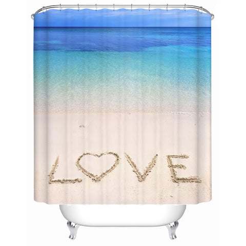 Sandy Love Shower Curtain-🇦🇺 Australian Coastal Passion