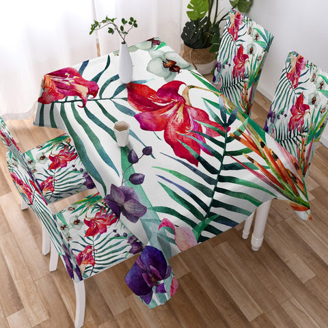 Coastal Tablecloth-Tropical Floral Tablecloth-Coastal Passion