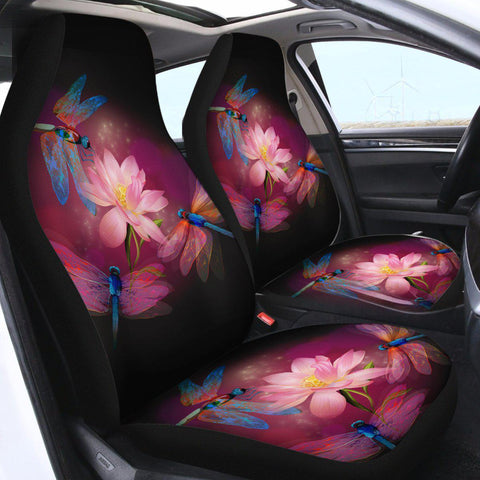 Dragonflies and Lotus Car Seat Cover