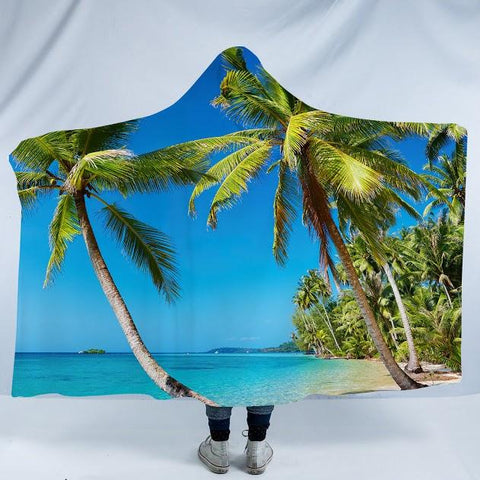 Summer in Saint Thomas Cozy Hooded Blanket-Fleece Hooded Blanket-Australian Coastal Passion