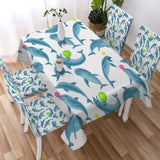 Dolphins Soul Fins Tablecloth-Australian Coastal Passion