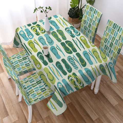 Flip Flop Frenzy Tablecloth-Australian Coastal Passion