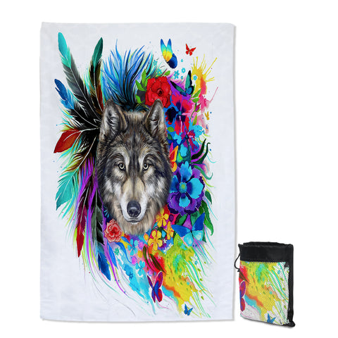 Coastal Sand Free Beach Towel-The Original Wolf Spirit Sand Free Towel-Coastal Passion