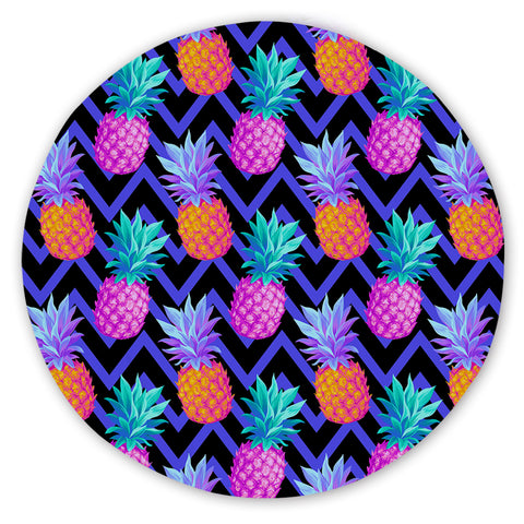Coastal Sand Free Beach Towel-Eclectic Pineapple Round Sand-Free Towel-Coastal Passion